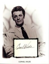 Cornel Wilde Autograph A Song to Remember Leave Her to Heaven  Romeo and Juliet