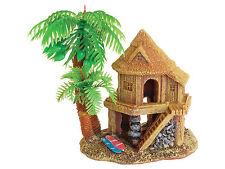 Beach House with Palms Aquarium Ornament Fish Tank Decoration