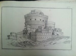 "Antique folio of american & european drawings by E.E. Oliver ""Devil River"" 1865"