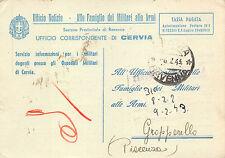 C974) WW2 CERVIA (RAVENNA) OSPEDALE MILITARE COLONIA VARESE.