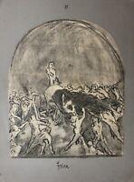 """Max Ludwig (1873-1940) signierte Zeichnung """"Eroica"""" Studie für Beethovenzyklus"""