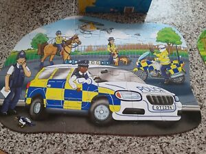 Orchard toys. Big police car floor shaped puzzle. Great condition
