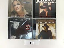 Lot  4 CD's Trisha Yearwood John Anderson Country Greatest Billy Ray Cyrus  D3