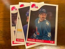 1985-86 Topps Hockey Quebec NORDIQUES Team Set