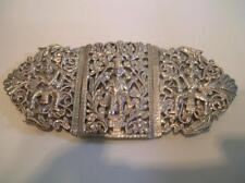Antique 1890's Indian / Burmese Silver Buckle. Colonial Silver 98g's. (52)