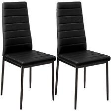 2x Sillas de comedor Juego elegantes sillas de diseño modernas cocina negro