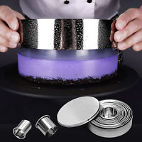 14Pcs/Set Stainless Steel Round Cookie Biscuit Cake Pastry Cutter Baking Mould