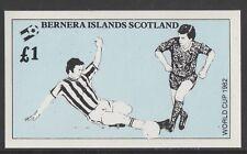 GB Locals BERNERA 7470 - 1982 FOOTBALL WORLD CUP souvenir sheet u/mint