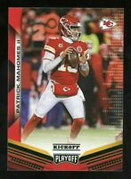 2019 Panini Playoff Kickoff Patrick Mahomes II Green Parallel SP Chiefs