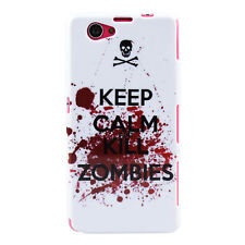 GUSCIO F Sony Xperia z1 COMPACT Custodia Case Cover in Tpu Keep Calm and Kill Zombie