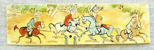 """ORIENTAL ANTIQUE MINIATURE HAND PAINTING GOUACHE YELLOW MATERIAL """"GAME IN POLO"""""""