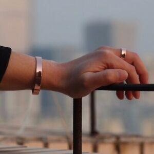 Bracelet + Bague magnétique cuivre  6 aimants Anti-Douleurs Rhumatisme Arthrose