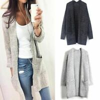 tenue de sommets en pull une veste à manches longues patchwork tricoter manteau