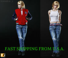 "1/6 Sport Jacket Tank Top Jeans Set For 12"" PHICEN Hot Toys Female Figure ❶USA❶"