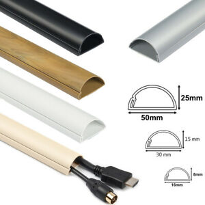 D-Line TV Electrical Cable Wire Tidy Plastic Cover Wire Hide Trunking PVC Dline