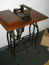 ANTIQUE WHEELER AND WILSON CAST IRON TREADLE SEWING MACHINE