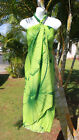 New Sarong Hawaii Hawaiian Luau Pareo Beach Wrap Dress  GREEN GIANT HIBISCUS