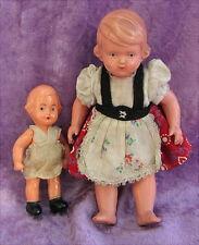 2 alte Püppchen aus Puppenstube Schildkröt