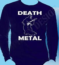 Death Metal T-Shirt The Grim Reaper Heavy Metal Rock Gig Original Long Sleeve