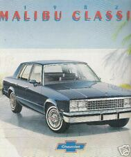 Great 1982 Chevrolet MALIBU CLASSIC Brochure 82 Chevy