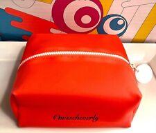 DRUNK ELEPHANT Zippered Cosmetics Travel Case Dopp Bag ORANGE Bright Neon
