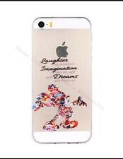 Disney Mickey Mouse Quote Phone Case For iPhone 6/6s. Clear Gel SilicoNe. Xmas