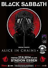 Black Sabbath/Alice in Chains/Black Label Society 2014 Essen Konzert Tour Poster