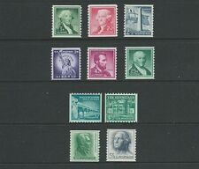Cat no. 1054-1059A and  etc. Liberty Issue Coil Singles,   MNH-OG-NH.