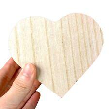 Toys Wood Jewelry Box Wooden Crafts Chic Art DIY Base Love Heart Shape Box