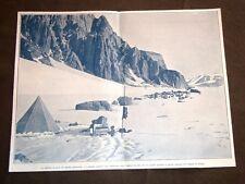 Polo Sud nel 1909 Stazione ai piedi d'un grande ghiacciaio