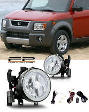 2003-2006 Honda Element Fog Lights Front Lamps Clear Lens PAIR Complete Kit Pair