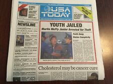 USA TODAY Back To The Future Edition - ENTIRE PAPER - FREE SHIPPING !!