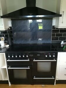 Rangemaster kitchen extractor fan Black including glass splashback