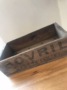A Vintage Wooden BOVRIL Box Shop Window Display Advertising-c1930. Rare.
