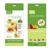 Keep Stay Fresh Longer Green Bags Storage Vegetable Fruits Greenbags 30 + 4PCS