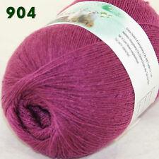 1ball x50g LACE Soft  Acrylic Wool Cashmere hand knitting Yarn 904 Bramble berry