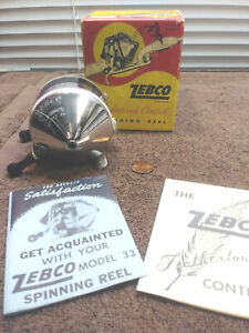 Zebco Spinning 33 Feather touch Control 1958 with box and papers