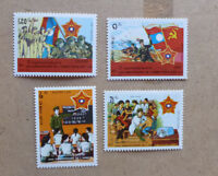 1989 LAOS 40th ANNIV PEOPLES ARMY SET OF 4 MINT STAMP MNH