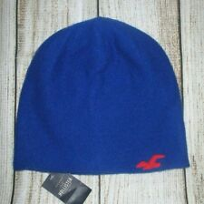 MENS HOLLISTER ROYAL BLUE BEANIE HAT ONE SIZE