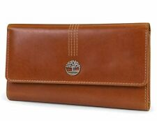 Timberland Womens Leather Wallet RFID Protection Snap button closure Clutch