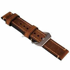 Brown 22mm Genuine Leather Wristwatch Strap Watch Band Watchband DIY Replaced