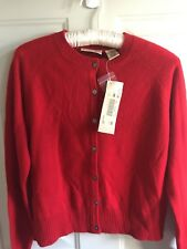 Red Cashmere Cardigan Sweater Ladies Xs Apostrophe NWT New