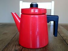 Coffee pot enamel ware Antti Nurmesniemi Arabia Finland Finel retro vintage red