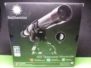 Smithsonian STEM 30x Telescope with Aluminum Tabletop Tripod
