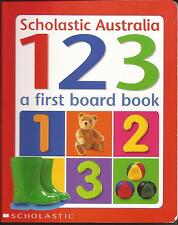 123 A FIRST BOARD BOOK Counting and Objects Learning Children's Learn Count NEW