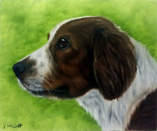 Spaniel Dog Oil Painting Animal Pet Portrait Realism Style