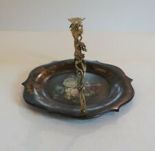 Victorian Papier Mache Lacquered Cake Basket / Calling Card Tray, c. 1860-70
