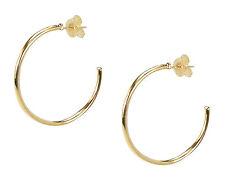 Sheila Fajl Petite Favorite Hoop Earrings in Polished Champagne