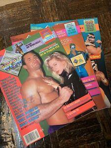 WCW Magazines February, March, April 1993  Classic WWE Wrestling