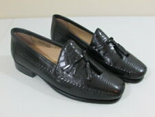 Stacy Adams Mens Dress Shoes 9 Black Leather Loafers Tassel